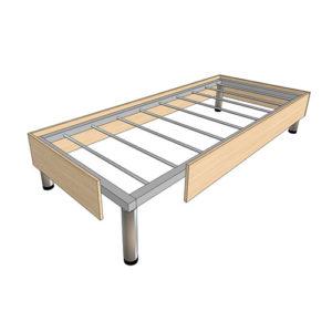Кровать на металлокаркасе